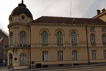 Bulgarian Academy of Sciences, founded in 1869 year, located in this ancient building from 1893 year, Oborishte district, Sofia, Bulgaria, Europe
