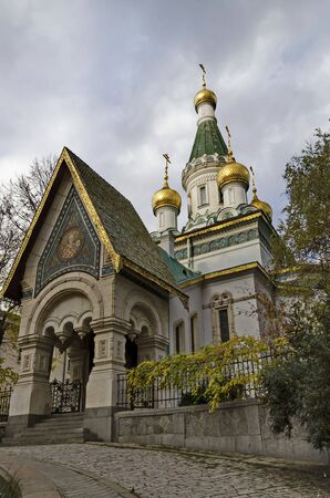 The Russian Orthodox church Saint Nicholas the Miracle-Maker or Wonderworker in central Sofia, Bulgaria, Europe