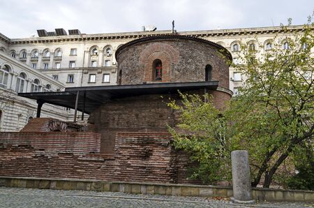 St. George's Church is an early Christian red brick rotunda and is the oldest building in Sofia, the capital of Bulgaria, Europe
