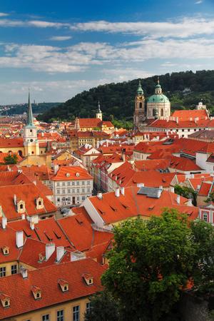 red roofs of Mala Strana, Prague, Czech Republic, Europe