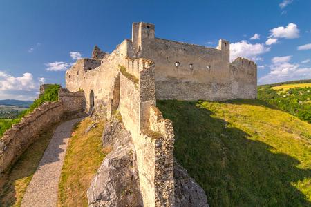 Medieval castle Beckov, central Europe, Slovakia. Stock Photo