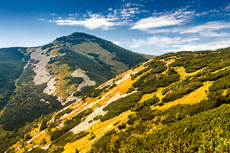 Mountainous landscape in the national park Mala Fatra, Slovakia, Europe.