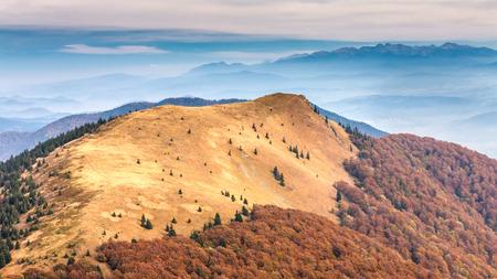 Mountain ridges in the national park Mala Fatra, Slovakia, Europe. Stock Photo