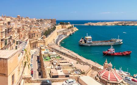 Ancient walls of Valletta, the capital of Malta