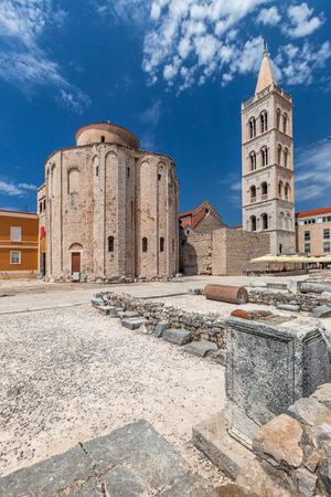 Historic center of the Croatian town of Zadar at the Mediterranean Sea, Europe. Stock Photo