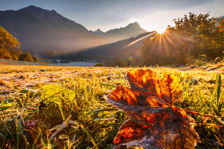 Sunrise at the mountains of the national park Mala Fatra, Slovakia.Europe.