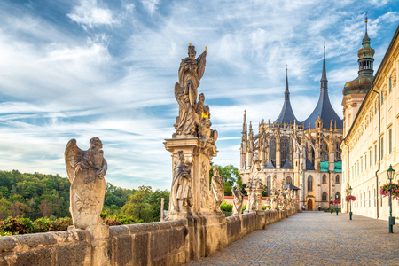 The Cathedral of St Barbara and Jesuit College in Kutna Hora, Czech Republic, Europe. Reklamní fotografie