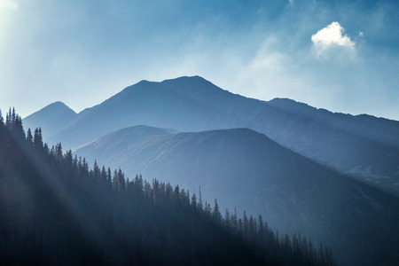 Mountain landscape, the area of Rohace in Tatras National Park, Slovakia, Europe.