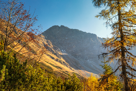 Mountain landscape at autumn, the area of Rohace in Tatras National Park, Slovakia, Europe.