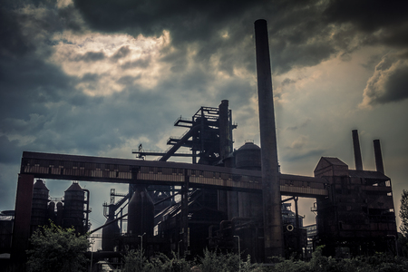 Industrial architecture of ironworks in Lower Vitkovice, Ostrava town, Czech Republic, Europe. Standard-Bild - 117165075
