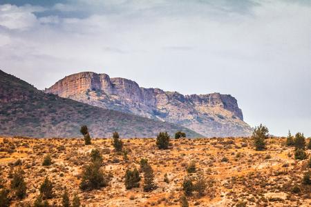 Paesaggio delle montagne di Beni Snassen nel nord-est del Marocco, Africa. Archivio Fotografico