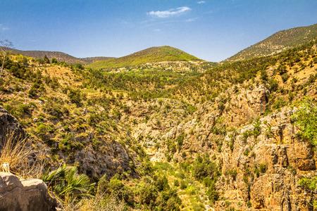 Landschaft der Beni-Snassen-Berge im Nordosten Marokkos, Afrika.