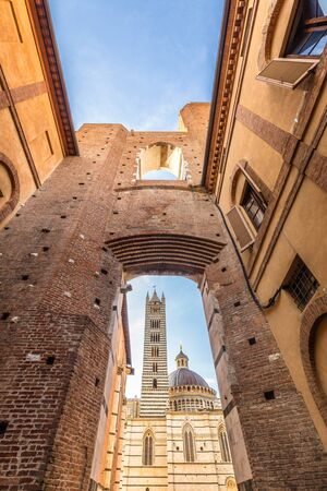 Siena Cathedral, a medieval church in Siena, an ancient city in the Tuscany region of Italy, Europe.
