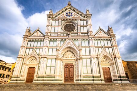Basilica of the Holy Cross, one of the most famous churches in Florence, Italy, Europe.