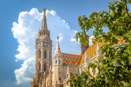 The Matthias Church in the Holy Trinity Square, Budapest, Hungary, Europe. Stockfoto