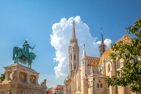 The Matthias Church in the Holy Trinity Square, Budapest, Hungary, Europe. Redactioneel