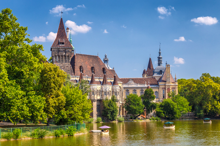 Vajdahunyad Castle in the City Park of Budapest, Hungary, Europe. Stockfoto - 131330161
