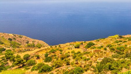 Landscape near The Dingli Cliffs on Malta island, Europe.