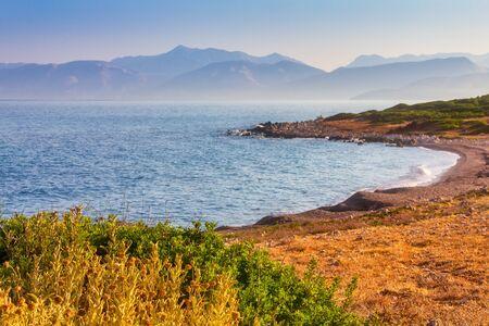 Sea view from Corfu island, Greece, Europe.