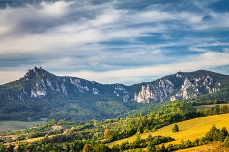 Mountains in the Sulov rocks Nature Reserves, Slovakia, Europe.