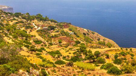Landscape near The Dingli Cliffs on Malta island, Europe.