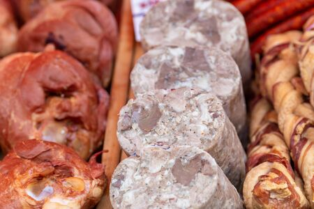 Different types of fresh meat offered on the market.