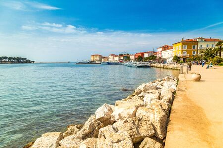 Porec town and harbor on Adriatic sea in Croatia, Europe.