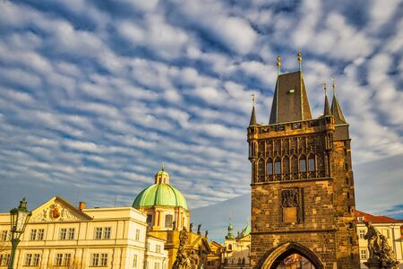 Old Town Bridge Tower at Charles Bridge in Prague, Czech Republic, Europe.