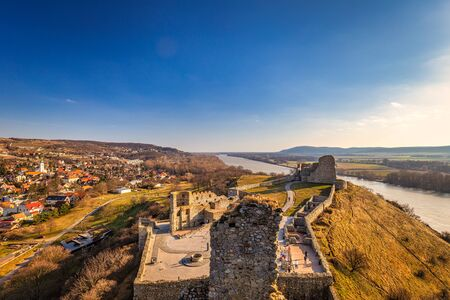 Devin castle ruins above the Danube river near Bratislava, Slovakia, Europe. 版權商用圖片