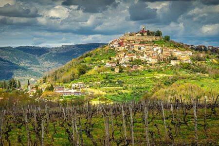 The Motovun, old mediterranean town with the surrounding countryside on the peninsula of Istria, Croatia, Europe. Reklamní fotografie