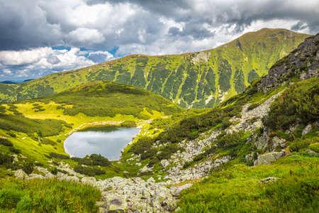 Mountain lake in Rohace area of the Tatra National Park, Slovakia, Europe.