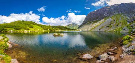 Mountain lake in Rohace area of the Tatra National Park, Slovakia, Europe. Stock Photo