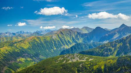 Mountain landscape in Rohace area of the Tatra National Park, Slovakia, Europe.