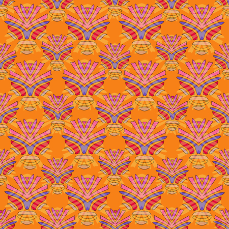 ethno: Bright tribal seamless pattern. African style Illustration