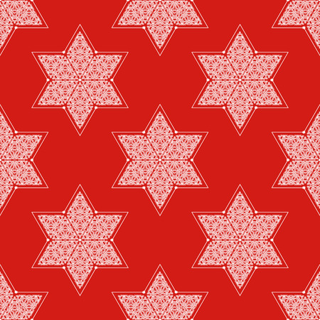 jews: Ornamented Star of David seamless pattern Illustration