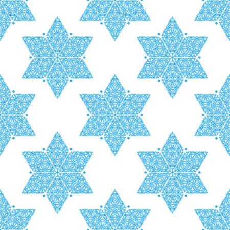 ornamented: Ornamented Star of David seamless pattern Illustration
