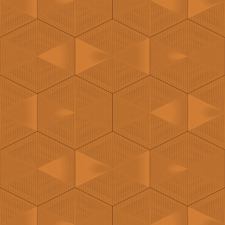 tawny: Geometric abstract seamless pattern. Background design in woody colors. Vector illustration Illustration