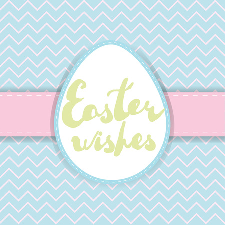 pastel backgrounds: Printable Easter greeting card. Handwritten text Easter wishes on pastel colors backgrounds. Vector template for invitation, banner, label, poster.
