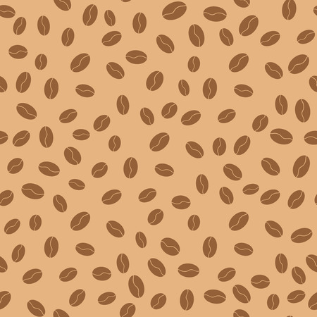 Coffee beans seamless pattern. Vector illustration