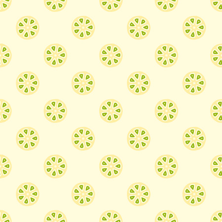 Seasmess vector pattern with citrus fruit cut. Bright colored repeating pattern for juice packaging, wrapping paper, scrapbooking, children projects.