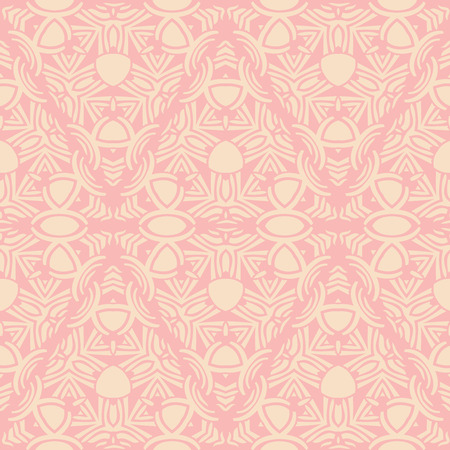 Abstract seamless pattern. Repeating ornament in delicate pastel colors. Vector illustration
