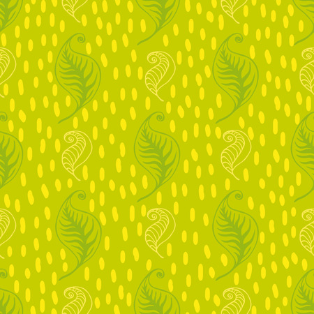 Green leaves seamless pattern. Vector design for tea packaging, textile print, wrapping paper. Ilustração