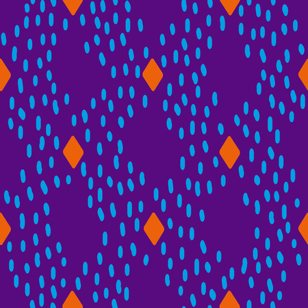 painterly: Modern seamless pattern with abstract painterly strokes. Vector design clean and editable.