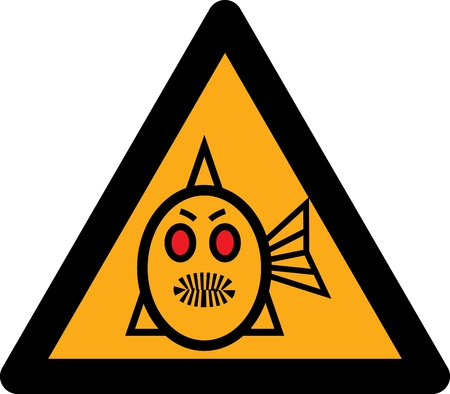 figure piranhas signifying danger  Vector