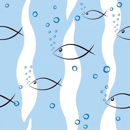 subsea: undersea world  seamless background