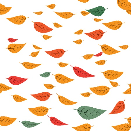 falling leaves  seamless background  eps8 Stock Photo - 17098576