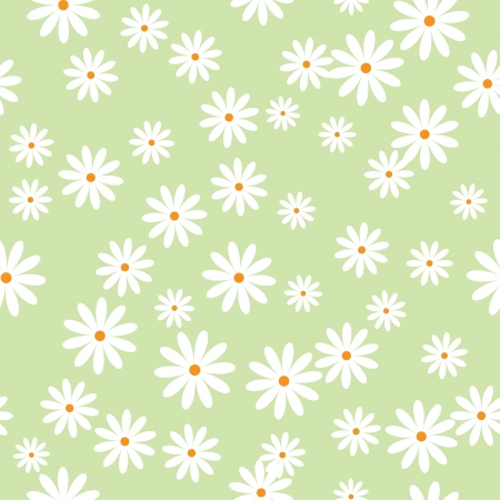 field of daisies  seamless pattern Stock Photo - 17098524