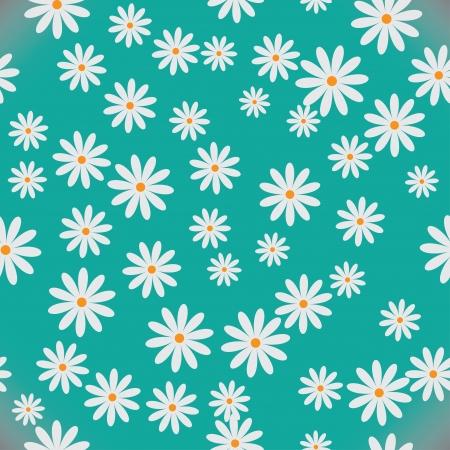 daisy field: daisies  seamless pattern