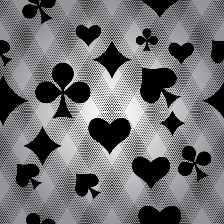 Playing cards  seamless background photo