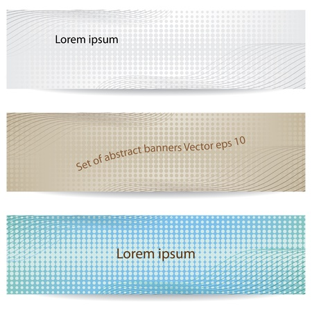 header image: set of abstract banners